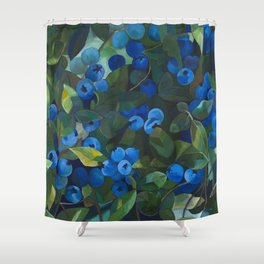A Blueberry View Shower Curtain