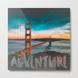 ADVENTURE San Francisco Metal Print