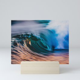 Slow Shutter Of Wave Mini Art Print