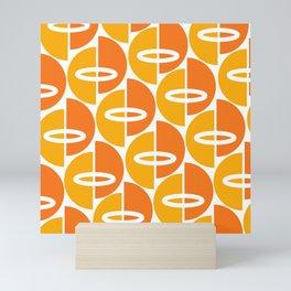 Mid Century Modern Orange Gold Mini Art Print