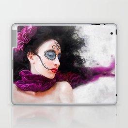 Purple Dream Of The Dead - Dia De Los Muertos Sugar Skull Laptop & iPad Skin