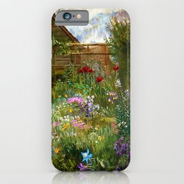 A Garden in Spring by Anna Lea Merritt iPhone Case