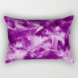 Colorful Feathers Rectangular Pillow