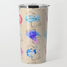 A toilet has no gender, nor does color. Travel Mug