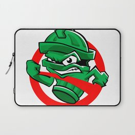 Cartoon Green trash can Laptop Sleeve