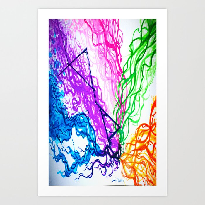 Together Spectrum Art Print by pastelxpalette