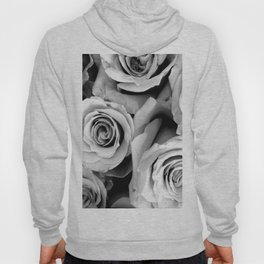 Black and White Roses Hoody