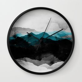 nature montains landscape Wall Clock