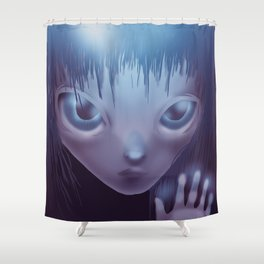 Weird Girl Shower Curtain