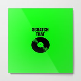 scratch that music logo Metal Print