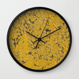Urban Texture Photography - road markings - painted asphalt Wall Clock