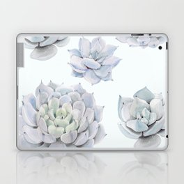 Blue Succulents Laptop & iPad Skin