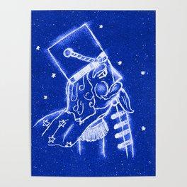 Nutcracker in Bright Blue Poster