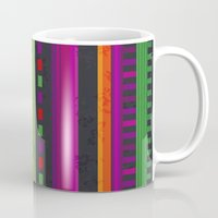 mexican Mugs featuring Mexican Pattern by rusanovska