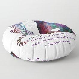 Galaxy Wilderness Love Floor Pillow