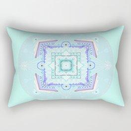 baby art, baby mandala, pastel colors, sweet baby, birth theme, art naif Rectangular Pillow