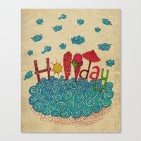 holiday Canvas Prints featuring Holiday by ezgi karaata