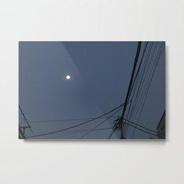 Street Moon Metal Print