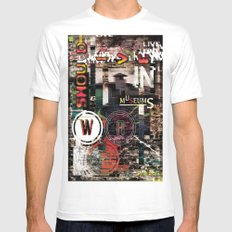 War should live in museums. SMALL White Mens Fitted Tee