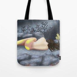 Sleeping Mermaid Tote Bag