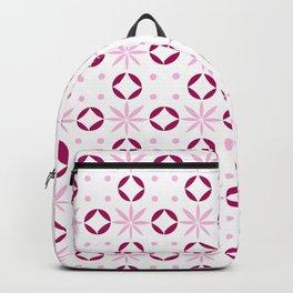 geometric flower 35 pink Backpack