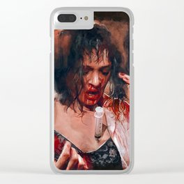 Pulp Fiction Adrenaline Shot Clear iPhone Case