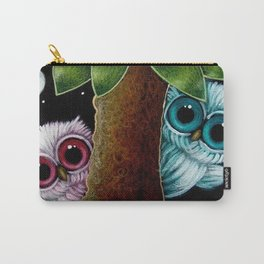 2 TINY OWLS BEHIND THE TREE PLAYING WITH YOU Carry-All Pouch