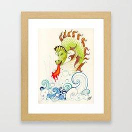 A happy dragon Framed Art Print