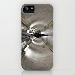 IN A LONDON UNDERGROUND TUNNEL iPhone Case