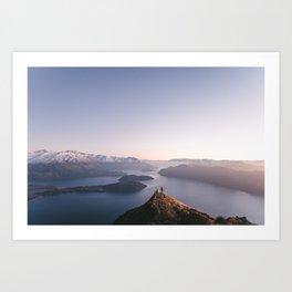 Top of the world - Wanaka Roys Peak Art Print