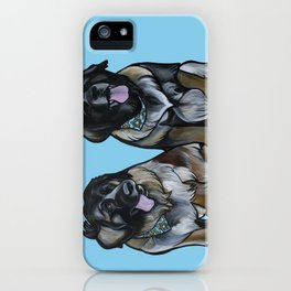 Simba and Snuffaluffagus the Leonbergers iPhone Case
