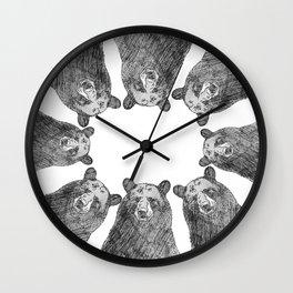 Bear Huddle Wall Clock