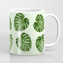 Palm Leaves, Leaf Pattern - Green Coffee Mug