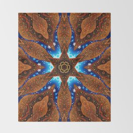 Christmas Holly Star Mandala Throw Blanket