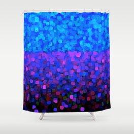 Sparkles Glitter Blue Shower Curtain