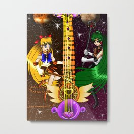 Fusion Sailor Moon Guitar #24 - Sailor Venus & Sailor Pluto Metal Print
