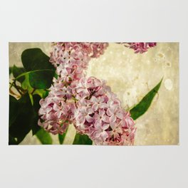 Vintage Lilacs in Bloom Rug