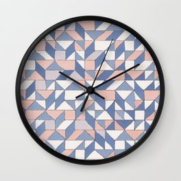 Shifting geometric pattern Wall Clock