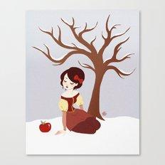 Skin White as Snow Canvas Print