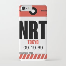 NRT Tokyo Luggage Tag 1 iPhone Case