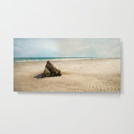 Minimalist Beach Panorama Metal Print