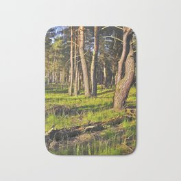 Dreaming Pine Trees in the Evening Light Bath Mat