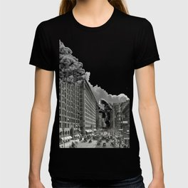 Old Time Godzilla in New York T-shirt