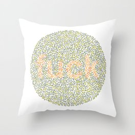 Ishihara Color Blindness plate Throw Pillow