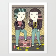Girl Gang Art Print