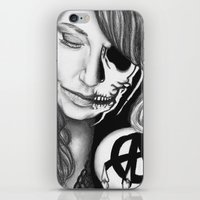 gemma correll iPhone & iPod Skins featuring Twisted Gemma by E. Moug Art