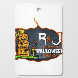 R and J logo white Cutting Board