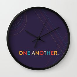 One Another Scripture Poster (Colossians 3) Wall Clock