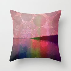 Shoreline - Sunset Throw Pillow