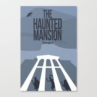 haunted mansion Canvas Prints featuring The Haunted Mansion by Minimalist Magic - Art by Tony Sherg